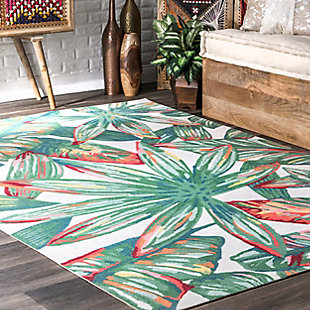 nuLOOM Contemporary Floral Lindsey 6' x 6' Rug, Multi, rollover