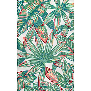 nuLOOM Contemporary Floral Lindsey 6' x 6' Rug, Multi, large