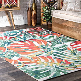 nuLOOM Contemporary Floral Janice 6' x 6' Rug, Multi, rollover