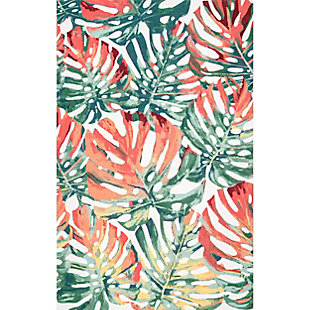 nuLOOM Contemporary Floral Janice 6' x 6' Rug, Multi, large