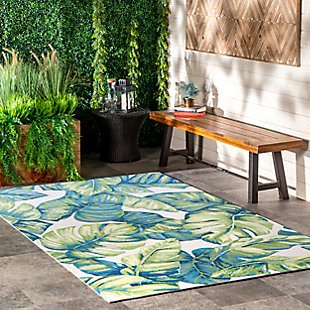 nuLOOM Contemporary Floral Lisa 6' x 6' Rug, Multi, rollover