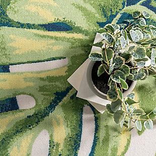 nuLOOM Contemporary Floral Lisa 6' x 6' Rug, Multi, large