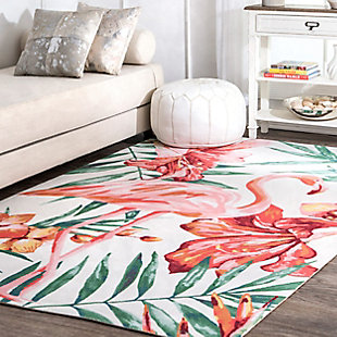 nuLOOM Contemporary Floral Stephanie 6' x 6' Rug, Multi, rollover