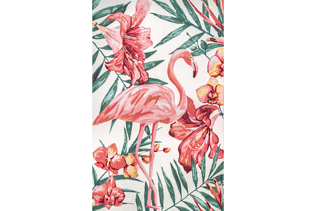 nuLOOM Contemporary Floral Stephanie 6' x 6' Rug, Multi, large