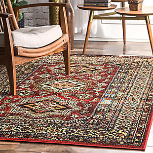 nuLOOM Transitional Medieval Randy 5' x 5' Outdoor Rug, , rollover