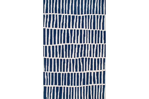 nuLOOM Hand Tufted Lemuel 5' x 8' Rug, Navy, large