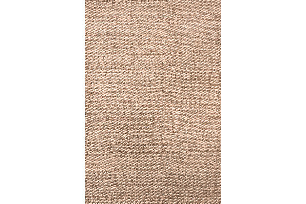 nuLOOM Hand Woven Hailey Jute 6' x 6' Rug, Natural, large
