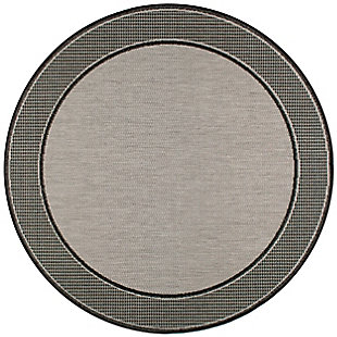 nuLOOM Machine Made Gris Outdoor 5' x 5' Rug, Gray, large