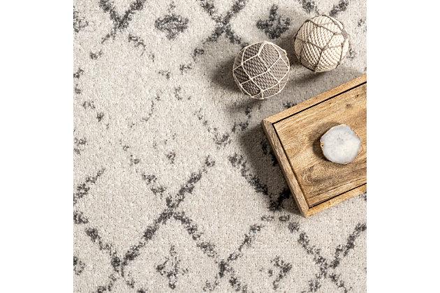 nuLOOM Moroccan Blythe 6' x 6' Rug, Gray, large