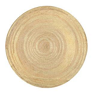 nuLOOM Rebbie Braided Printed Jute 6' x 6' Rug, , large