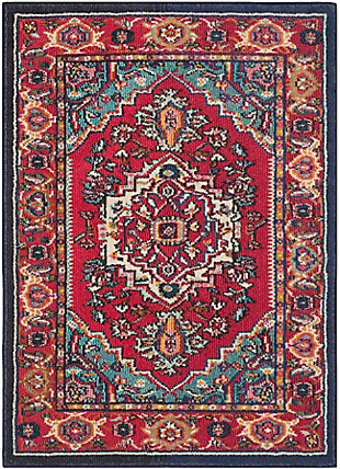 """Safavieh Monaco 3'4"""" x 4'7"""" Rectangle Accent Rug, Red/Turquoise, large"""