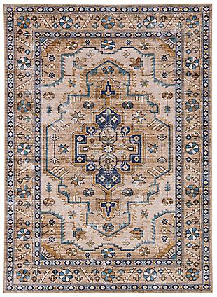Linon Washable Jasper 5' x 7' Area Rug, Ivory, large