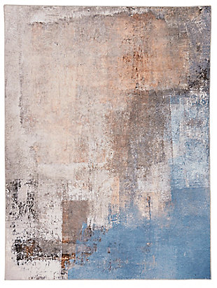 Linon Washable Blaire 5' x 7' Area Rug, Beige, large