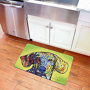 "Bungalow Flooring Dean Russo Designs Dachshund 1'9"" x 3' Mat, , rollover"