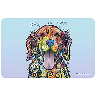 "Bungalow Flooring Dean Russo Designs Dog is Love 1'9"" x 3' Mat, , large"