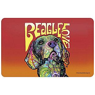 """Bungalow Flooring Dean Russo Designs Beagle Love 1'9"""" x 3' Mat, , large"""