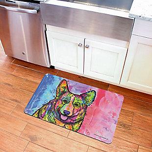 "Bungalow Flooring Dean Russo Designs Corgi 1'9"" x 3' Mat, , rollover"