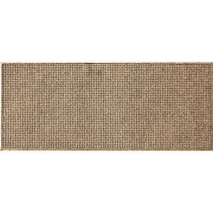 Bungalow Flooring Aqua Shield Squares 3' x 7' Indoor/Outdoor Mat, Camel, large