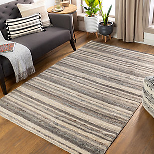 Surya Petra 2' x 3' Accent Rug, Charcoal, rollover