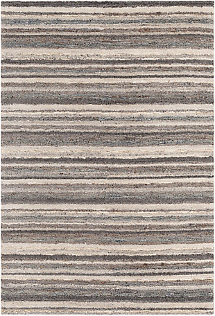 Surya Petra 2' x 3' Accent Rug, Charcoal, large