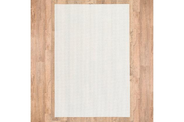 "Cascadia Home  Non-Slip Grip 4'8"" x 7'6"" Rug Pad, Beige, large"