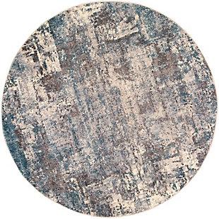 """Surya Ankara 5'3"""" x 5'3"""" Round Area Rug, Gray, large"""