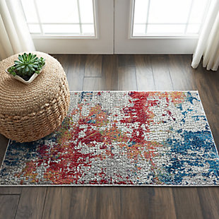 Nourison Ankara Global 2' X 4' Abstract Accent Rug, , rollover