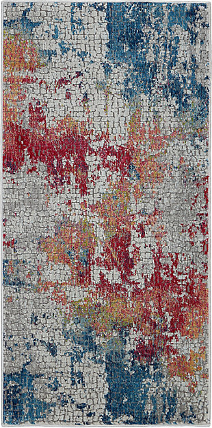 Nourison Ankara Global 2' X 4' Abstract Accent Rug, , large