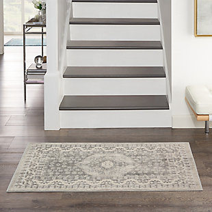 """Nourison Cyrus 2'6"""" X 4' Center Medallion Accent Rug, Ivory, rollover"""