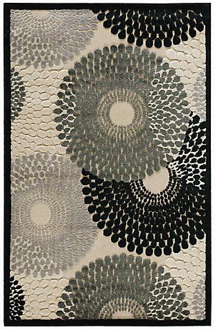 """Nourison Graphic Illusions 3'6"""" X 5'6"""" Parchment Geometric Accent Rug, Parchment, large"""