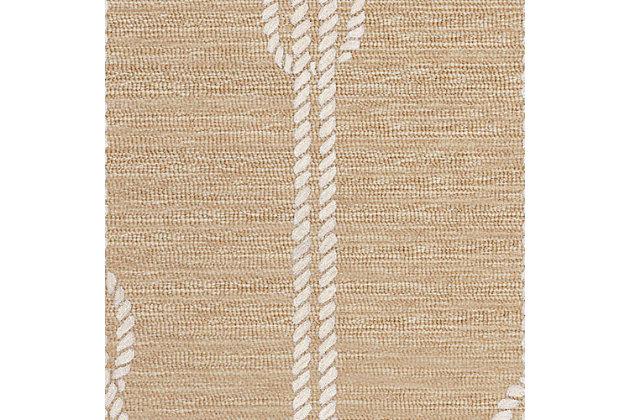 "Transocean Fortina Sailing knot Outdoor 5' x 7'6"" Area Rug, Natural, large"