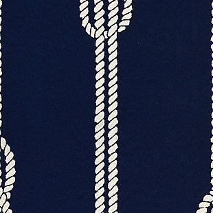 "Transocean Fortina Sailing knot Outdoor 5' x 7'6"" Area Rug, Navy, large"