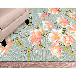 """Transocean Fortina French Blooms Outdoor 5' x 7'6"""" Area Rug, Blue, rollover"""