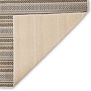 "Transocean Mateo Ribbon Stripe Outdoor 4'10"" x 7'6"" Area Rug, Sand, large"