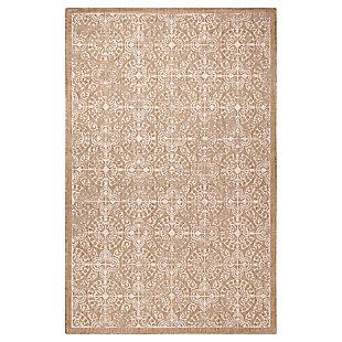 "Transocean Mateo Embellished Tile Outdoor 4'10"" x 7'6"" Area Rug, Sand, large"