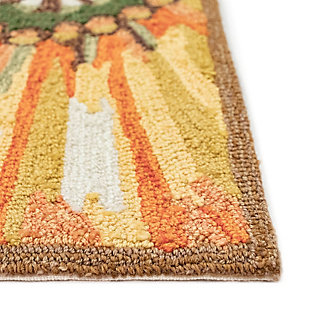Transocean Deckside Happy Flower Outdoor 2' x 3' Accent Rug, Yellow, large