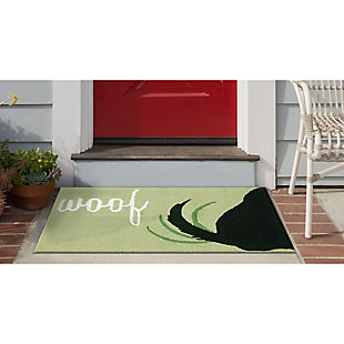 Transocean Deckside Happy Tail Outdoor 2' x 3' Accent Rug, Green, rollover