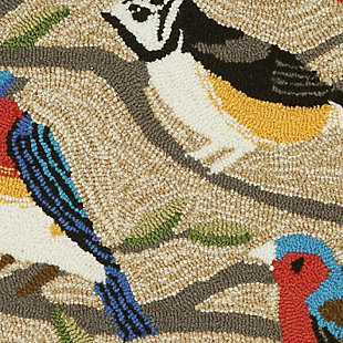 Transocean Deckside Song Birds Outdoor 2' x 3' Accent Rug, Multi, large