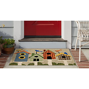 Transocean Deckside Aviary Outdoor 2' x 3' Accent Rug, Multi, large