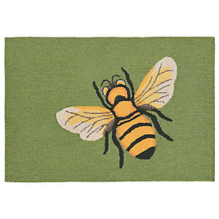 Transocean Deckside Buzzy Outdoor 2' x 3' Accent Rug, Green, large