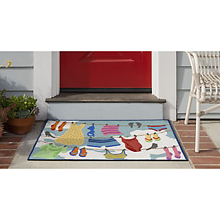 Transocean Deckside Out to Dry Outdoor 2' x 3' Accent Rug, Multi, rollover