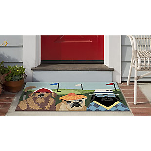 Transocean Deckside Golfing with the Pups Outdoor 2' x 3' Accent Rug, Multi, large