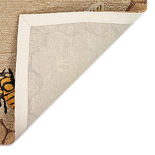 """Transocean Deckside Busy Buzzy Outdoor 5' x 7'6"""" Area Rug, Natural, large"""