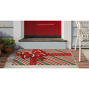 Transocean Deckside Surprise Box Outdoor 2' x 3' Accent Rug, Red, rollover