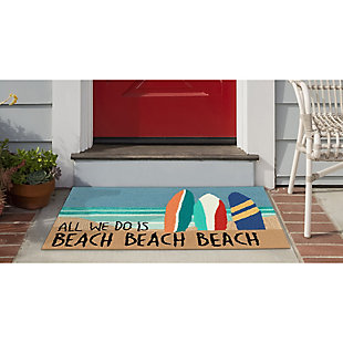 Transocean Deckside Riding the Surf Outdoor 2' x 3' Accent Rug, Blue, rollover