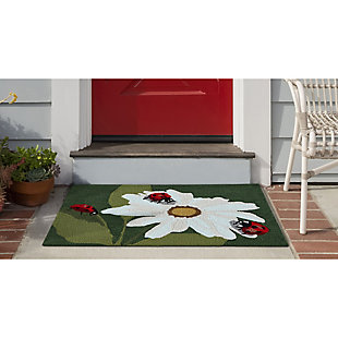 Transocean Deckside Summer Lady Outdoor 2' x 3' Accent Rug, Green, large