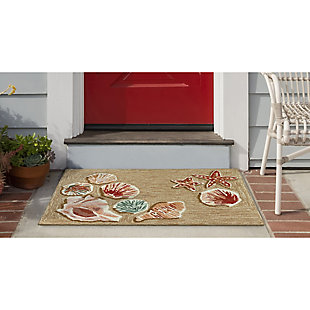 Transocean Deckside Jewels Outdoor 2' x 3' Accent Rug, Sand, large