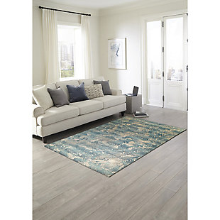 """Transocean Gorham Squall Outdoor 4'10"""" x 7'6"""" Area Rug, Blue, rollover"""