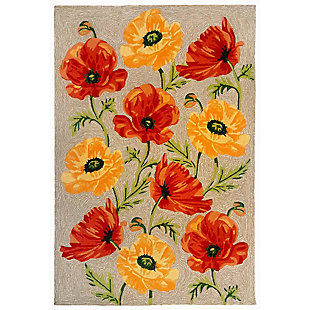 """Transocean Highlands Artic Flower Outdoor 5' x 7'6"""" Area Rug, Natural, large"""