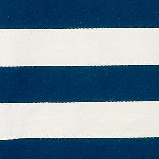 "Transocean Spencer Regatta Stripe Outdoor 5' x 7'6"" Area Rug, Navy, large"